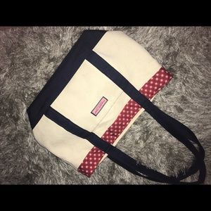 Vineyard Vines classic red white blue tote bag